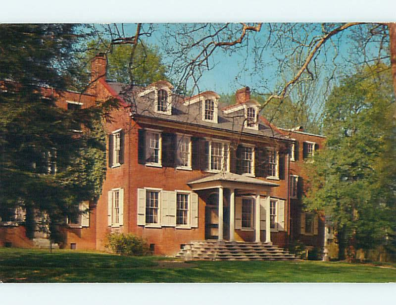 Unused Pre-1980 ENTRANCE TO WHEATLAND Lancaster Pennsylvania PA r9373