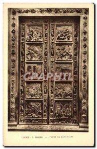 Old Postcard Ghiberti Florence Baptistery Gate