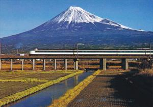 Japan World's Fastest Bullet Train On The New Tokaido Line Shizuoka Passing M...