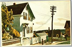 Edward Hopper Adam's House, Wichita Art Museum KS Vintage Postcard Q18