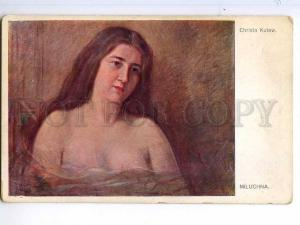 245072 NUDE Woman Miluchna ART NOUVEAU by CHRISTO KUTEW old PC
