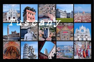 NEW Italy Postcard, Multi View, Tuscany DL7