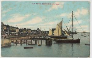 Essex; Old Town, Southend On Sea PPC, Unposted, Showing Wharves & Boats