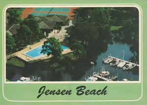 Aerial View Marina Swimming Pool and Tennis Courts Jensen Beach Florida
