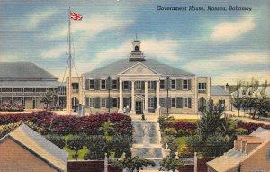 Government House, Nassau, Bahamas, Early Linen Postcard, Unused