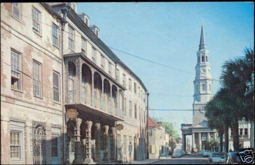 Charleston, S.C., Church Street, Dock Street, Theatre (1950s)