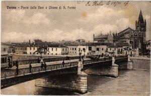 CPA VERONA Ponte delle Navi e Chiesa di S.Fermo . ITALY (493792)