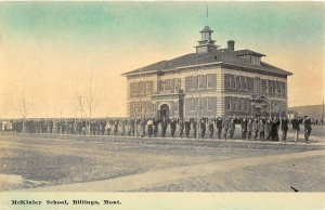 F48/ Billings Montana Postcard c1910 McKinley School Students