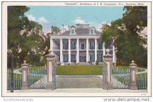 Dunieth Residence Of J N Carpenter East Natchez Mississippi 1940