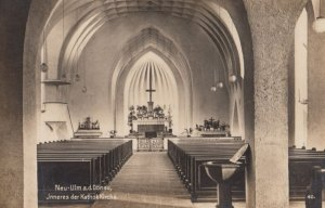 RP: Neu-Ulm a.d. Donau , Germany , 1910s ; Inneres der Kathol Kirche