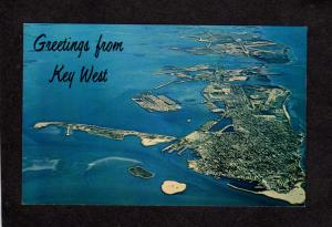 FL Greetings From Key West Florida Aerial View Postcard
