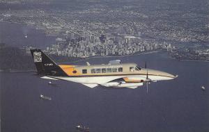 Small Passenger Airplane in Flight, Waglisla Air, Wagair Beech 99 C-FWAD, Van...