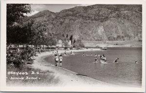 Osoyoos BC Bathing Beach Unused Real Photo Postcard G19