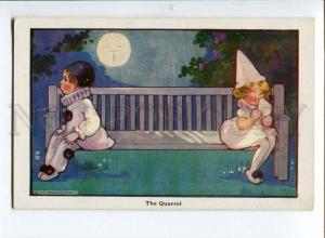 257089 PIERROT Pierrette MOON Quarrel by Agnes RICHARDSON old
