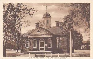 Virginia Williamsburg Old Court House Albertype