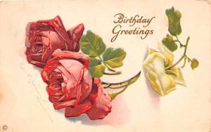 Post Card Old Vintage Antique Birthday Greetings 1921