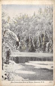 Hanover New Hampshire~Snow-Flocked Trees Over the Connecticut River~B&W 1926
