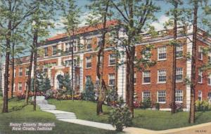 Indiana New Castle Henry County Hospital 1949 Curteich