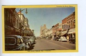 Oshkosk WI Movie Marquee Street View Old Cars Postcard