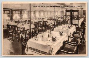 Steamship Royal Eagle~Steamer Main Dining Saloon~General Steam Navigation~1930s