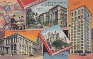 Illinois Chicago Public Libraries Multi View Curteich