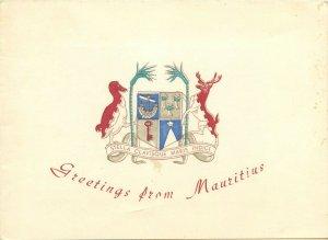 Mauritius crest heraldry blason postcard