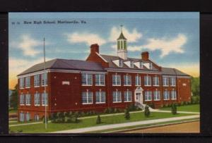 Virginia Postcard New High School  Martinsville