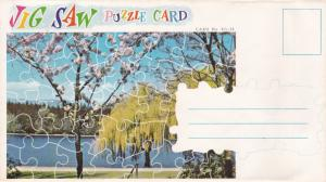 Puzzle Postcard , B.C. , Canada , 50-60s ; Lakeside view