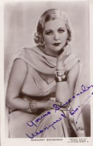 Margaret Bannerman Vintage Genuine Hand Signed Photo Postcard