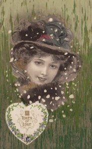 WINSCH , VALENTINE'S DAY, Female Head portrait #2 , PU-1909