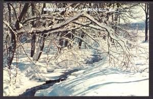 Greetings From Marshfield,WI,Winter Scene