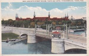 TAMPA, Florida, PU-1919; New Lafayette Street Bridge, Tampa Bay Hotel in Back...