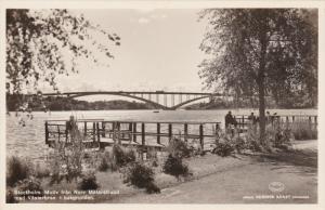 RP: Stockholm , Sweden , 20-40s ; Motiv fran Norr malarstrand med Vasterbron ...