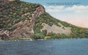 The Indian Profile Rock On Mount Tammany 1650 Feet Delaware Water Gap Pennsyl...