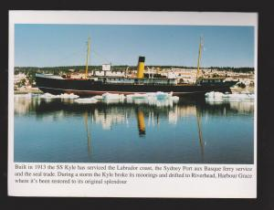 NEWFOUNDLAND - SS KYLE At Harbour Grace - Letter Card - Unused