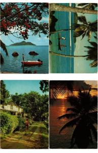 SEYCHELLES ISLANDS AFRICA 20 MODERN POSTCARDS ALL POSTALLY USED 1970-2000