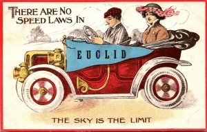 New York Euclid Couple In Car 1916 Pennant Series