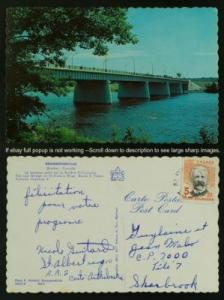 Pont sur la rivère St-Francois pmk St-Albert 1970