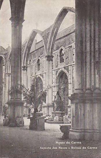 Museu Do Carmo, Aspecto Das Naves, Ruinas Do Carmo, Lisboa, Portugal, 1900-1910s