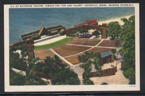 North Carolina colour PC Waterside Theatre Lost Colony Roanoke Island unused
