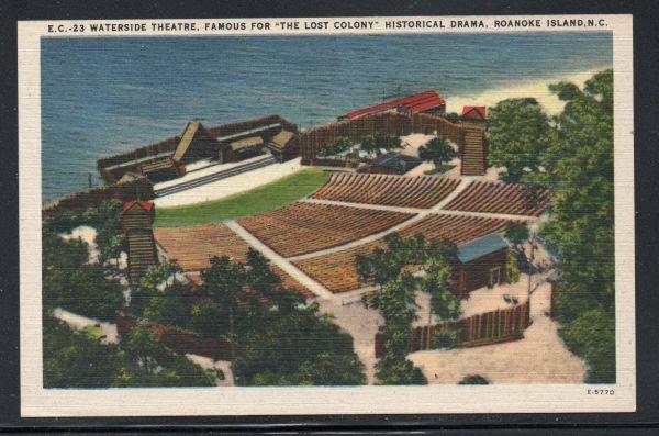 North Carolina colour PC Waterside Theatre Lost Colony Roanoke Island unused