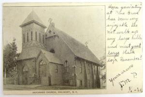 ANTIQUE 1905 POSTCARD REFORMED CHURCH PHILMONT N.Y.