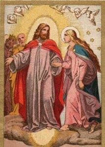 1890s Religious Dresden German Language Mary Jesus & Angel P222
