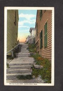 MA The Old Alley Stairs Doorways Marblehead Mass Massachusetts Postcard
