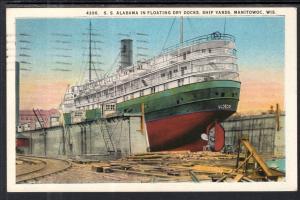SS Alabama in Floating Dry Docks,Ship Yards,Manitowoc,WI