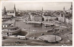 Sweden Stockholm Utsikt fran Katarinahissan 1957 Real Photo