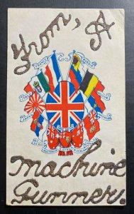 England Handmade Postcard PPC From A Machine Gunner In Guernsey WW1 British Army
