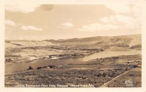 Wenatchee Washington~Panorama from Ohme Gardens~Farms~Homes~1940s RPPC