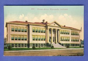 Early Watsonville, California/CA Postcard, Primary School