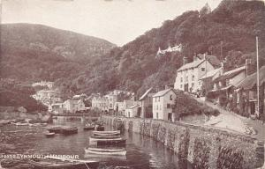 Vintage Devon Postcard, Lynmouth Harbour by Photochrom Sepiatone Series Y91